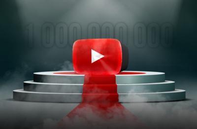 YouTube собрал миллиард часов просмотров за сутки