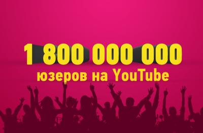 1.8 млрд юзеров на YouTube каждый месяц!