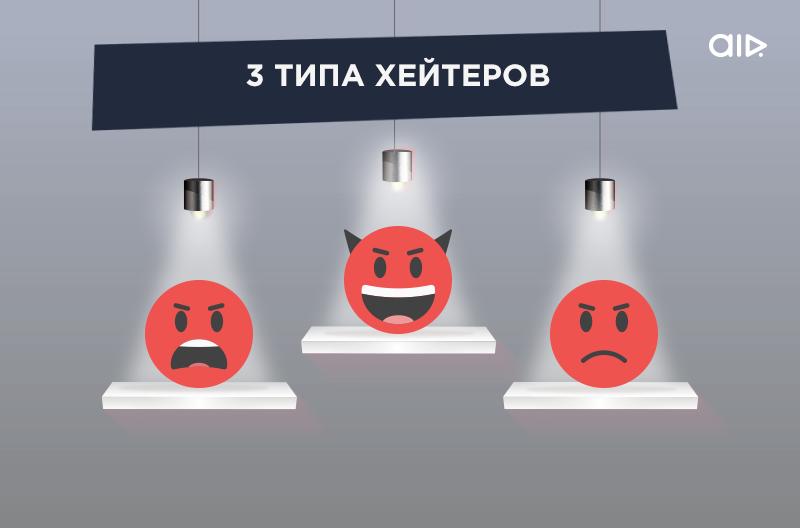 3 типа хейтеров